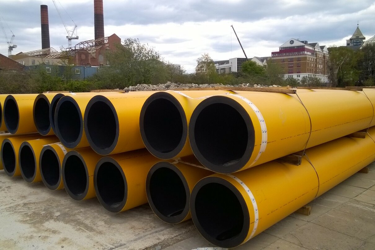 Replacement of Victorian gas mains in London inspires the largest GPS PE Yellow pipe ever made