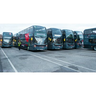 National Express use PLX Blue at their Walsall bus depot