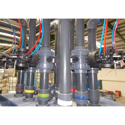 Actuated valves and Durapipe PVC support major factory relocation